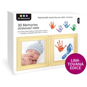 3D Memories otiskovací sada baby pro otisky ručiček a nožiček se dvěma rámečky - limitovaná edice