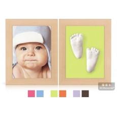 3D Memories odlévací sada baby pro 3D odlitek ručiček a nožiček - dva rámečky olšové