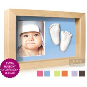 3D Memories odlévací sada baby pro 3D odlitek ručiček a nožiček s extra hlubokým dvojrámečkem