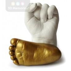 Profesionální zhotovení 3D odlitků nožiček a ručiček dětí