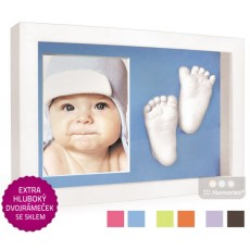 3D Memories odlévací sada baby pro 3D odlitek ručiček a nožiček s extra hlubokým bílým dvojrámečkem