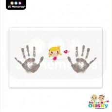 Arch speciálního papíru pro Kouzelné otisky 3D Memories - holčička
