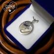 Stříbrný osobní šperk z otisku nožičky a ručičky - oválek malý