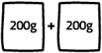 200g prášku + 200g hmoty