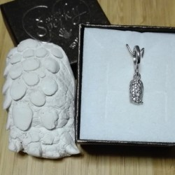 Stříbrný osobní šperk z 3D odlitku tlapky zvířecího mazlíčka