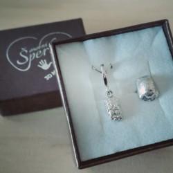 Stříbrný osobní šperk z 3D odlitku tlapky želvy a z odlitku krunýře