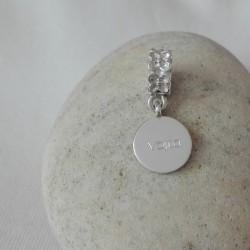 Stříbrný osobní šperk s rytinou pro Pandora náramek
