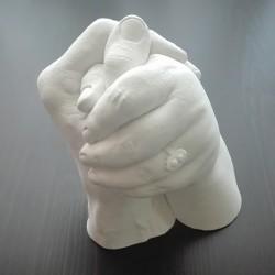 Sádrový odlitek rukou - semknuté ruce