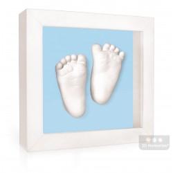 3D Memories odlévací sada baby pro 3D odlitek ručiček a nožiček s extra hlubokým bílým rámečkem