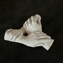 3D odlitek spojené ruce zhotovený na zakázku