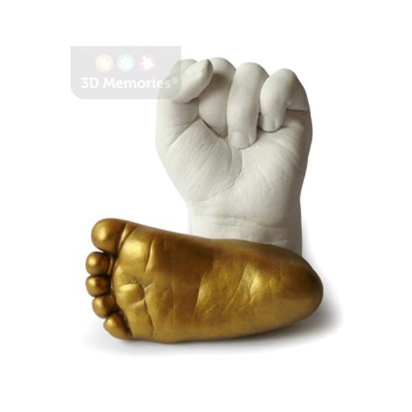 3D odlitek ručičky a zlatý odlitek nožičky
