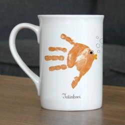Hrnek s vlastním otiskem ručičky - oranžová rybička