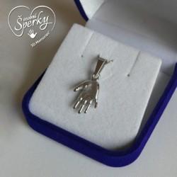Stříbrný osobní šperk 3D Memories z 3D odlitku ručičky - malý