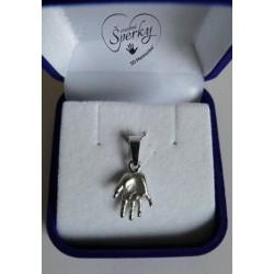 Stříbrný osobní šperk z 3D odlitku ručičky - malý