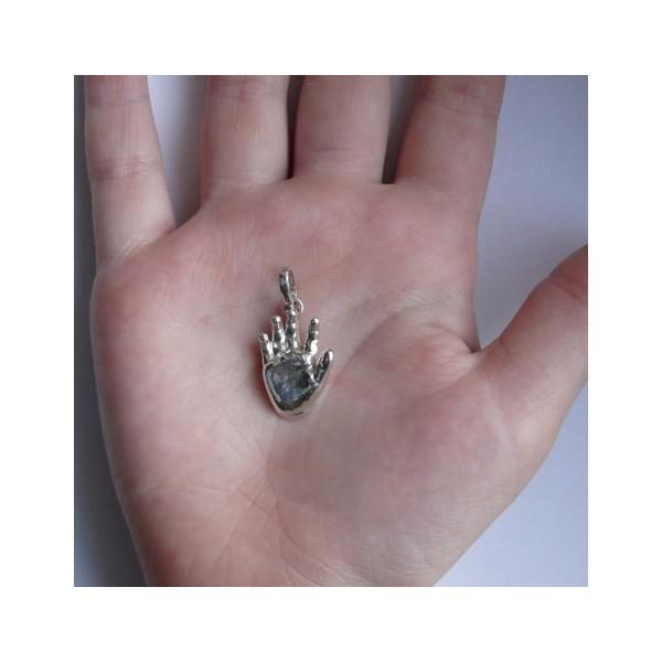 Stříbrný osobní šperk 3D Memories z 3D odlitku ručičky - velký