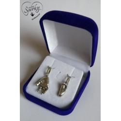 Stříbrné osobní šperky z 3D odlitku ručičky a nožičky