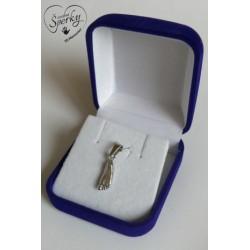 Stříbrný osobní šperk z 3D odlitku nožičky v dárkové krabičce