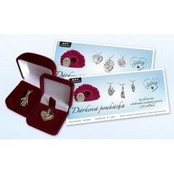 Dárková poukázka na stříbrné osobní šperky z 3D odlitku nebo otisku nožiček a ručiček 3D Memories