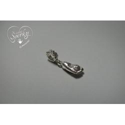 Stříbrný osobní šperk z 3D odlitku nožičky na Pandora náramek