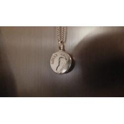 Stříbrný osobní šperk 3D Memories s otiskem a vygravírovaným jménem