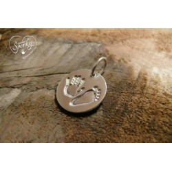 Stříbrný osobní šperk 3D Memories s otiskem ručičky a nožičky - kolečko