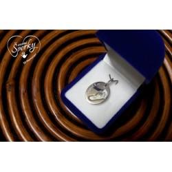 Stříbrný osobní šperk s jedním otiskem nožičky