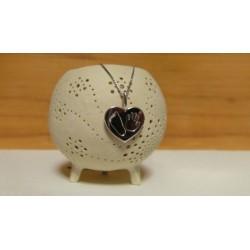 stříbrný šperk 3D Memories s otiskem ručičky a nožičky - srdíčko