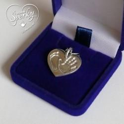 stříbrný šperk 3D Memories s otiskem ručičky a nožičky