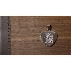 osobní šperk z chirurgické oceli s vygravírovanou fotografií pejska - srdíčko