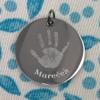 Z chirurgické oceli - motiv ručička s vlastním jménem